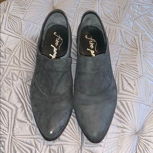 Leather Free People booties